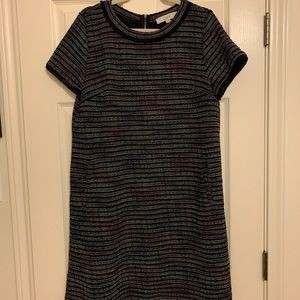 LOFT Striped Textured Dress